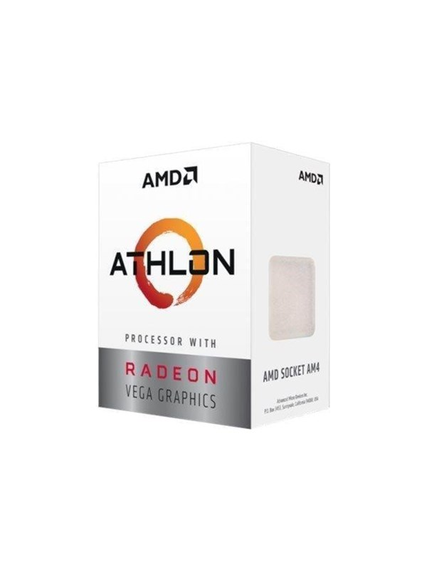 Image of   AMD Athlon 240GE CPU - 2 kerner 3.4 GHz - AMD AM4 - AMD Boxed (PIB - med køler)