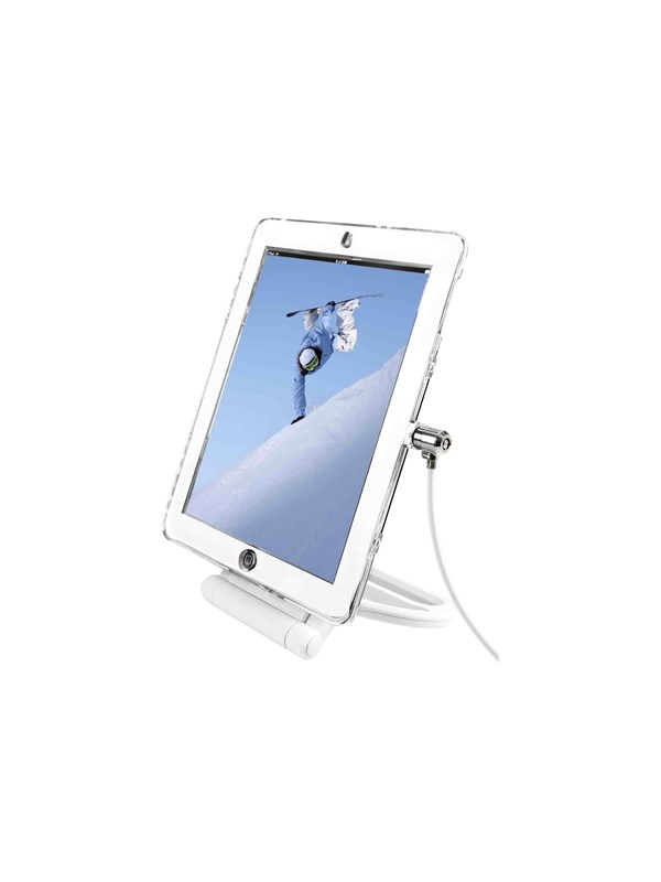 """Image of   Compulocks iPad 9.7"""" Rotating Security Plastic Case - Combination Cable Lock - Clear"""