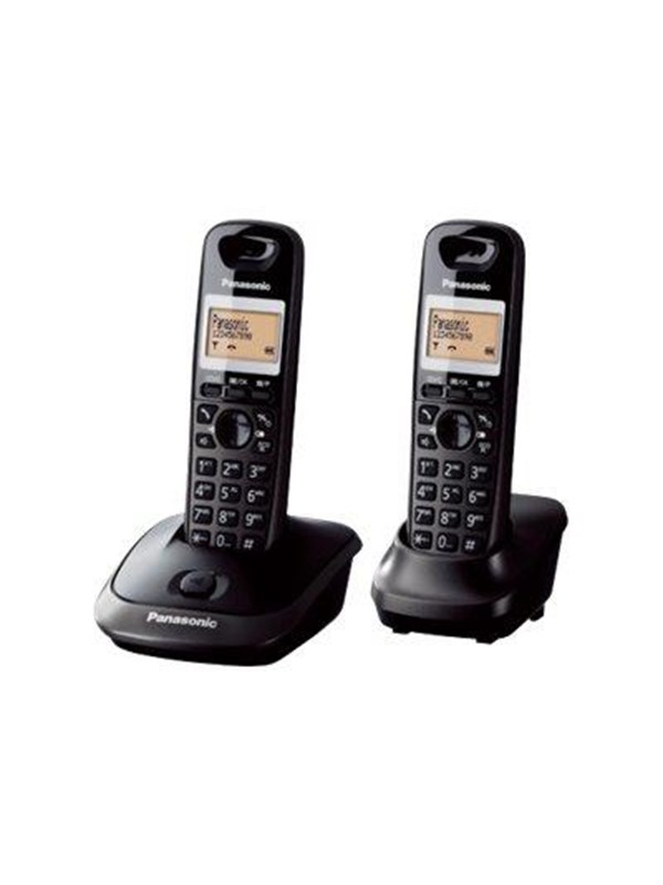 Image of   Panasonic KX-TG2512PDT - cordless phone with caller ID + additional handset