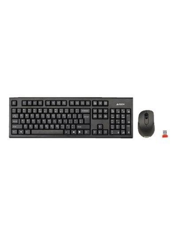 Image of   A4 Tech A4Tech V-Track 7100N PADLESS Wireless Desktop - Tastatur & Mus sæt - Sort