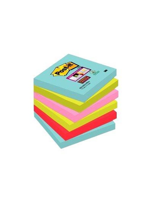 Image of   3M Post-it Super Sticky Miami 654-6SS-MIA