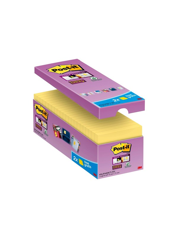 Image of   3M Post-it Super Sticky 654-P16SSCY-EU