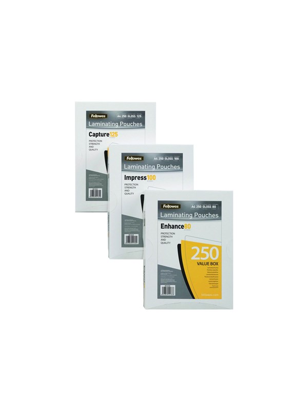 Image of   Fellowes Laminating Pouches Enhance 80 micron