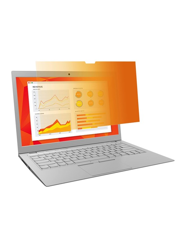 "Image of   3M Gold Privacy Filter til 12.5"" widescreen laptop"