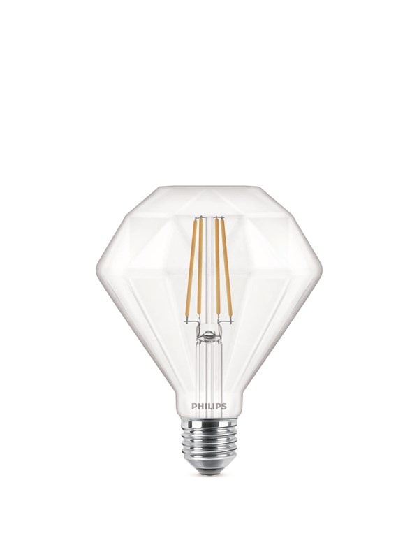 Philips LED pære LEDClassic 40W Diamond E27 2700K CL D E27