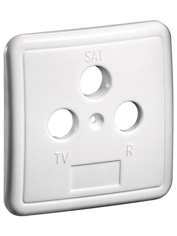Image of   Pro 3 holes cover plate for antenna wall sockets white