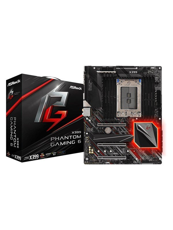 Image of   ASRock X399 Phantom Gaming 6 Bundkort - AMD X399 - AMD TR4 socket - DDR4 RAM - ATX