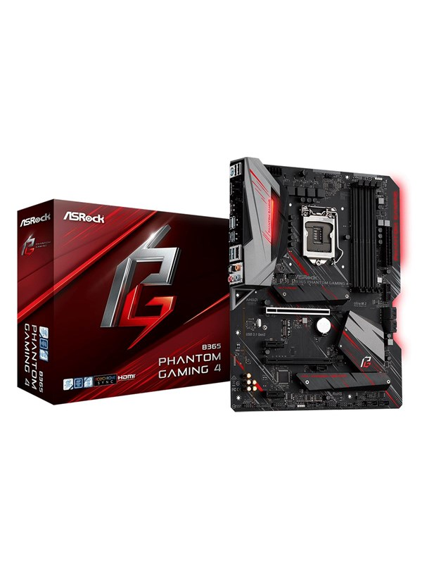 Image of   ASRock B365 Phantom Gaming 4 Bundkort - Intel B365 - Intel LGA1151 socket - DDR4 RAM - ATX