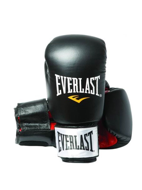 Image of   Everlast 12oz Black/Red - Leather Boxing Gloves