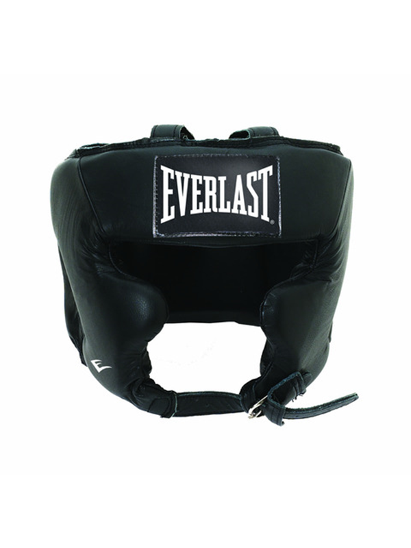 Image of   Everlast Leather Pro Traditional Headgear - Black S/M