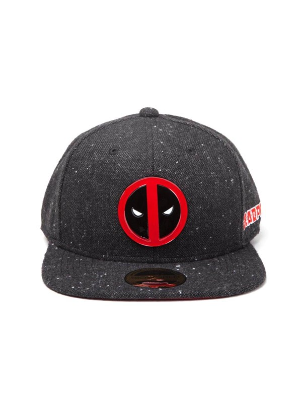 Image of   Deadpool - Metal Badge Logo - Pet - Snapback - Zwa - Kasket -