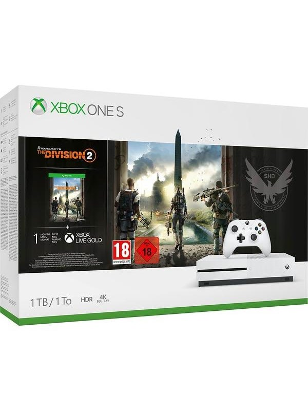 Image of   Microsoft Xbox One S - 1TB - (Tom Clancy's The Division 2 Bundle)