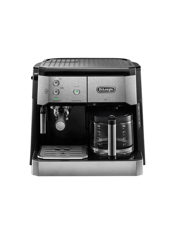 Image of   DeLonghi De'Longhi BCO421.S - coffee machine with drip coffee maker and cappuccinatore - 15 bar - silver/black