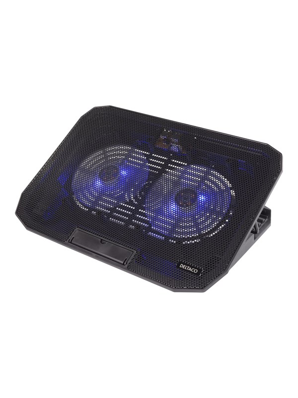 "Image of   DELTACO Laptop Cooler for 15.6"" lapotop 2 x 120mm fan"