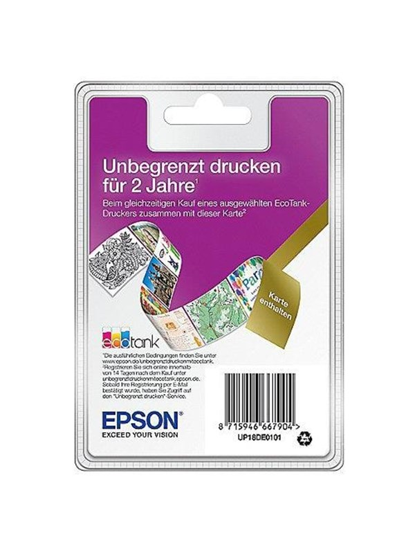 Image of   Epson EcoTank Unlimited Printing EDG thin -