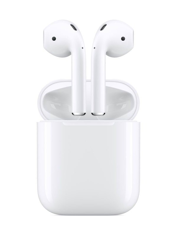 Image of   Apple AirPods (2019) with Charging Case - Hvid