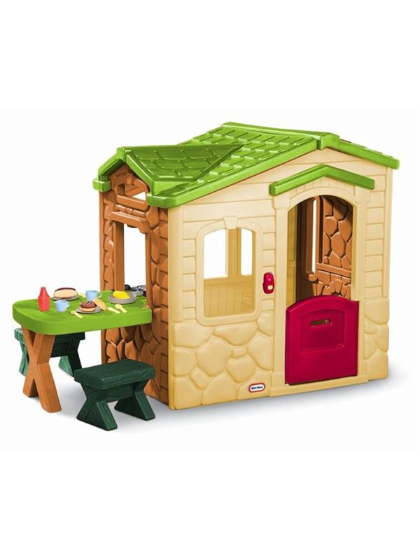 Image of   Little Tikes Picnic on the Patio Playhouse - Natural