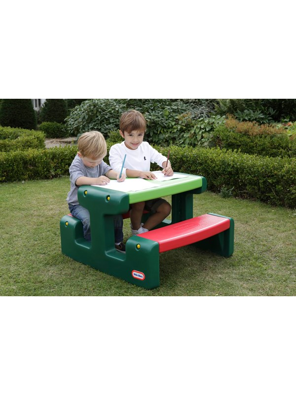 Image of   Little Tikes Junior Picnic Table - Evergreen