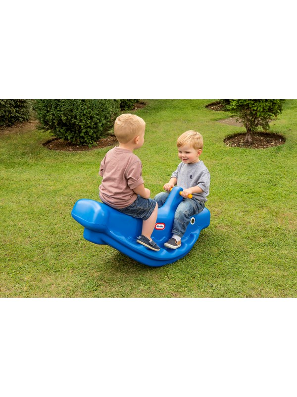 Image of   Little Tikes Whale Teeter Totter - Blue 1-pack