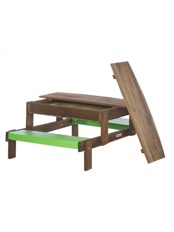 Image of   Little Tikes 2-in-1 Wooden Sand and Picnic Table