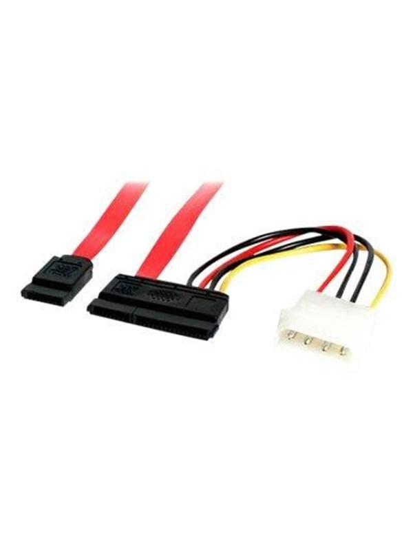 Billede af StarTech.com SATA Serial ATA Data and Power Combo Cable - SATA cable - 45.7 cm