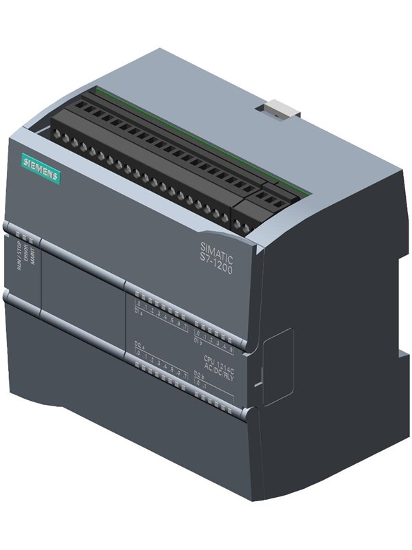 Image of   Siemens CPU 1214C, DC/DC/DC, 14DI/10DO/2AI