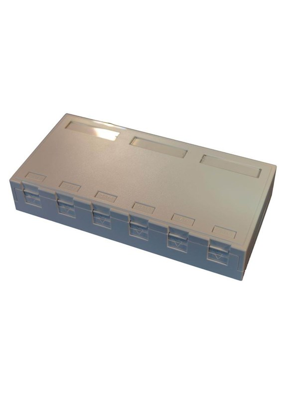 Image of   EFB NORDIC Officebox for 6 x RJ45 Keystone Konnektor, hvid