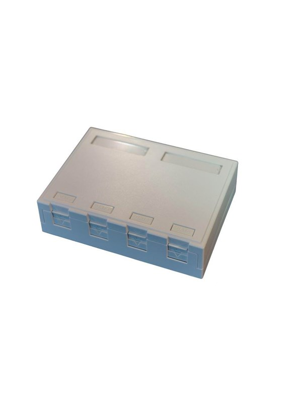 Image of   EFB NORDIC Officebox for 4 x RJ45 Keystone Konnektor, hvid