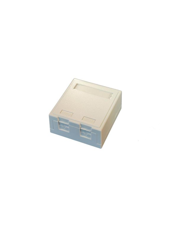Image of   EFB NORDIC Officebox for 2 x RJ45 Keystone Konnektor, hvid