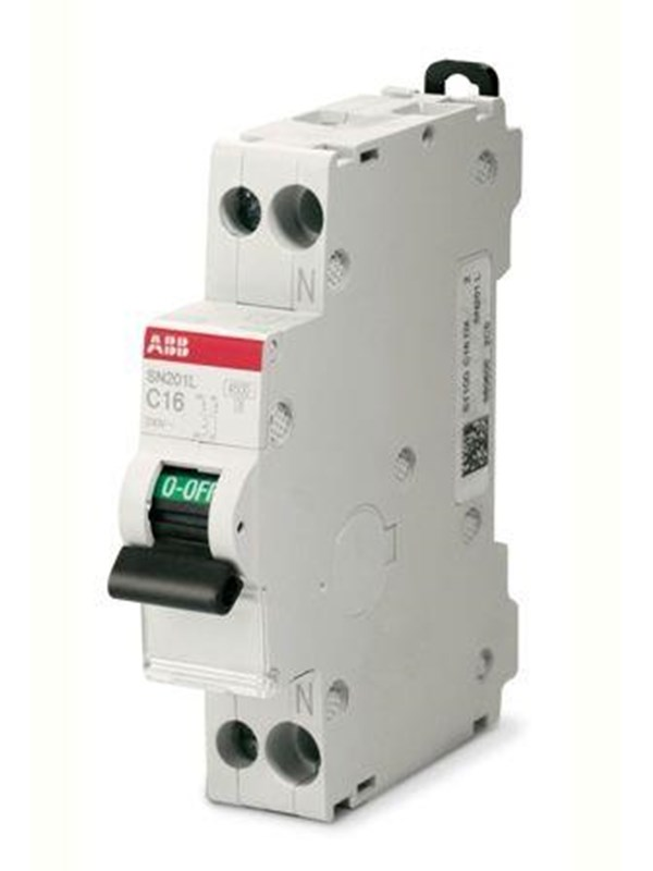 Image of   ABB Automatsikring 1 polet + nul C 10A 18MM SN201 C10