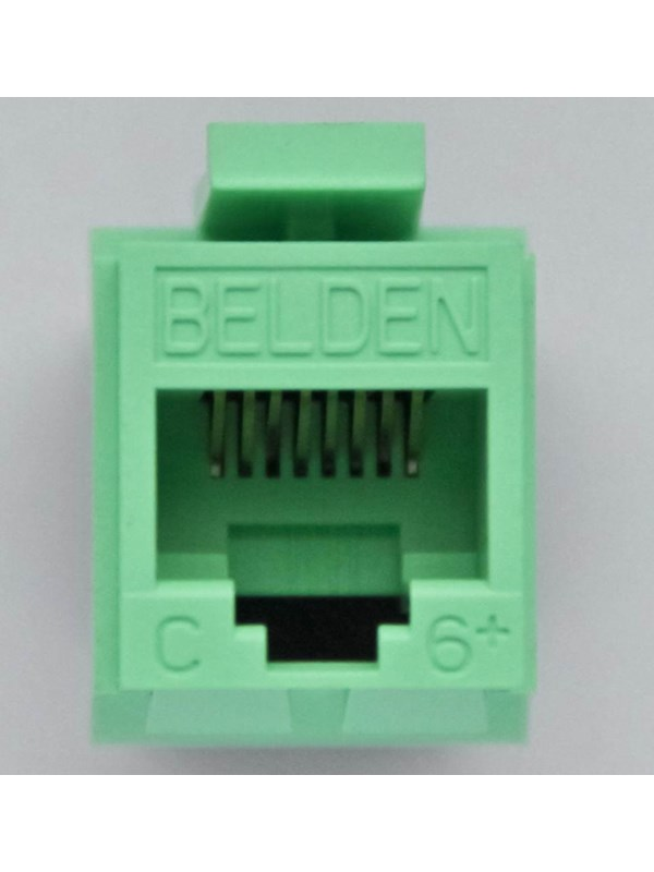 Image of   Belden Ps6+gigaflex t568a/b keystone non keyed rj45 green