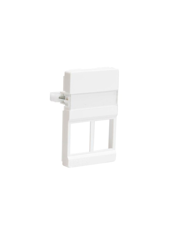 Image of   Belden Outlet 2xrj45 50x77mm white cdt design f