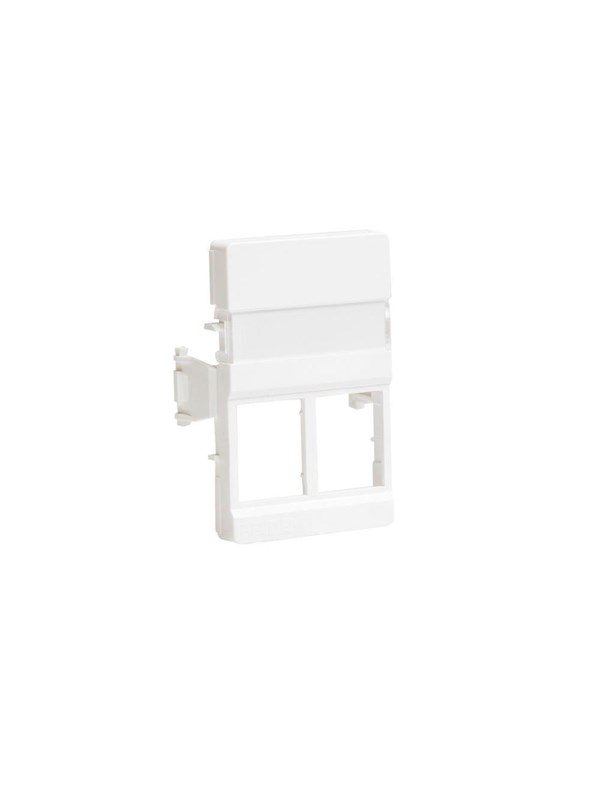 Image of   Belden Outlet clickline 2xrj45 white cdt design c