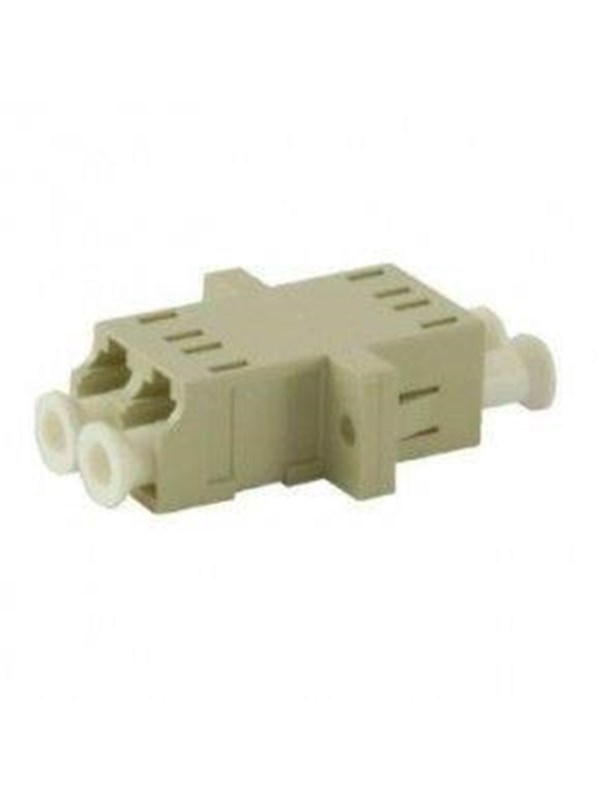 Image of   Leviton Adaptor lc duplex multimode with metal sleev beige