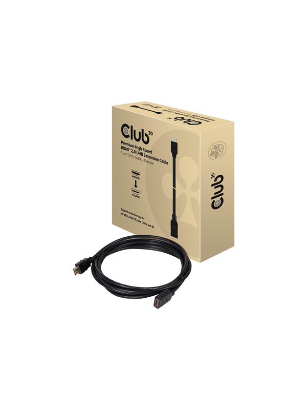 Image of   Club 3D CAC-1321 - HDMI extension cable - 3 m