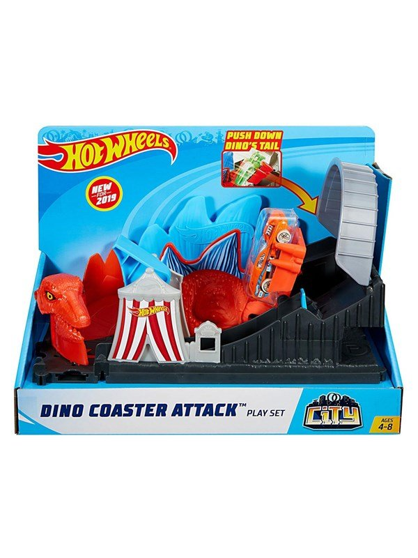 Image of   Hotwheels Hot Wheels City - Dino Attack Playset
