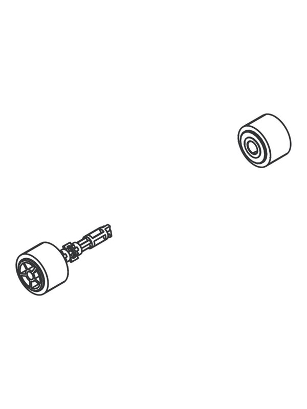 Image of   Brother - paper pull-in roller assembly