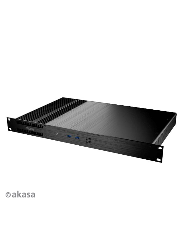 Image of   Akasa Galileo TU3 Thin-Mini-ITX 1U Gehäuse OEM - Kabinet - Sort