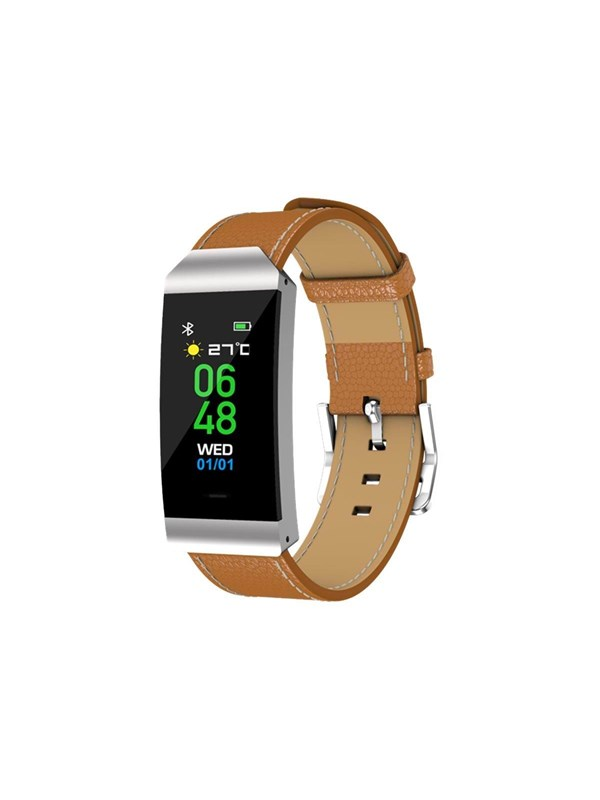 Image of   DENVER BFH-250 - silver - activity tracker with band - brown