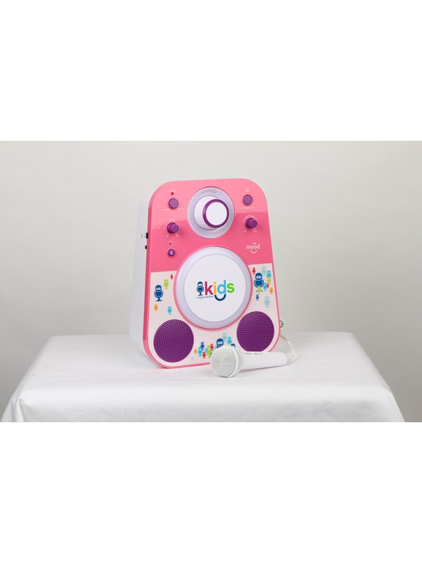 Image of   Singing Machine Sing-Along System Bluetooth Pink