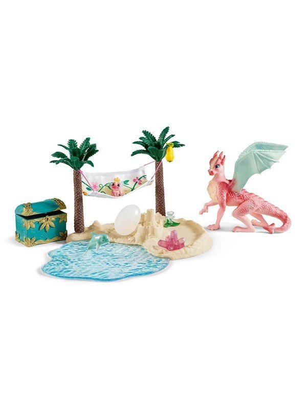 Image of   Schleich Dragon Island with treasure