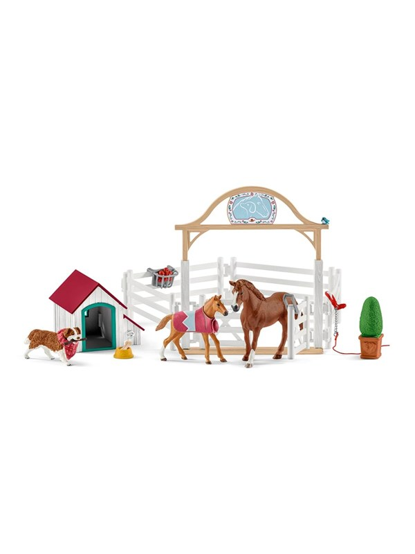 Image of   Schleich Hannah's guest horses with Dog