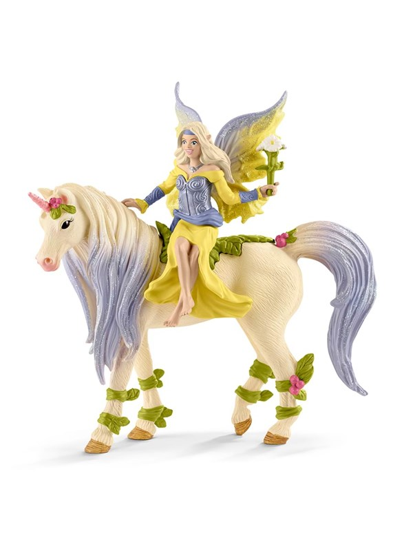 Image of   Schleich Fairy Sera with blossom unicorn