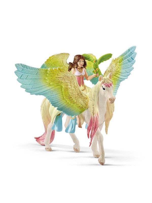 Image of   Schleich Fairy Surah with glitter Pegasus