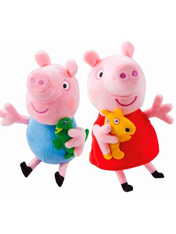 Image of   Peppa Pig Two pack Plush