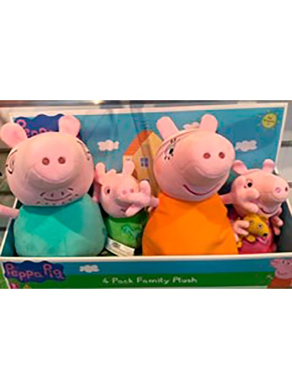 Image of   Peppa Pig Peppa Plush Family pack