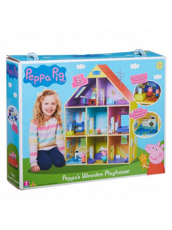 Image of   Peppa Pig DLX Wooden Playhouse
