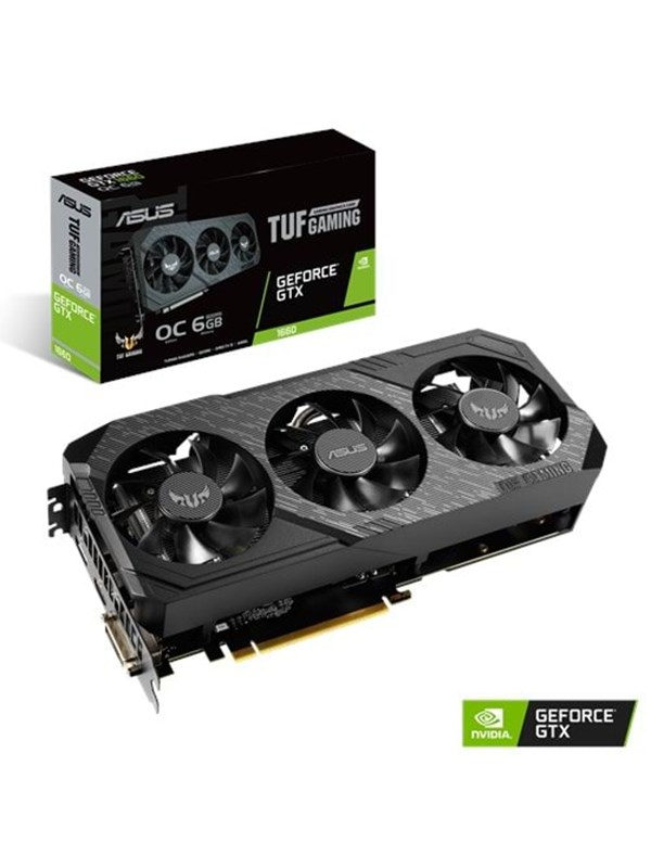 Image of   ASUS GeForce GTX 1660 TUF OC - 6GB GDDR5 RAM - Grafikkort