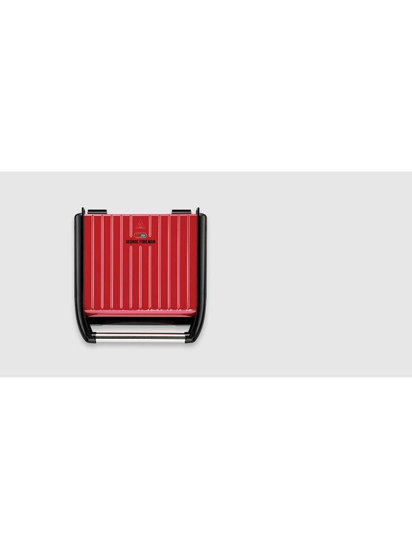 Image of   George Foreman Steel Entertaining Grill Red 25050-56