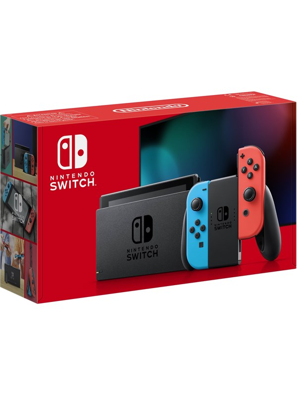Image of   Nintendo Switch With Joy-Con - Neon Blue and Neon Red (New revised model)